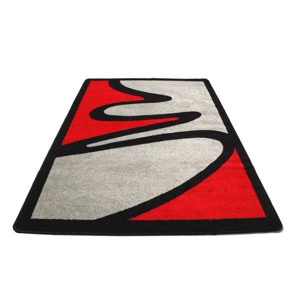 Moderní koberec NEO 2222 - šedo-červený