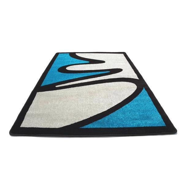 Moderní koberec NEO 2222 - šedo-modrý