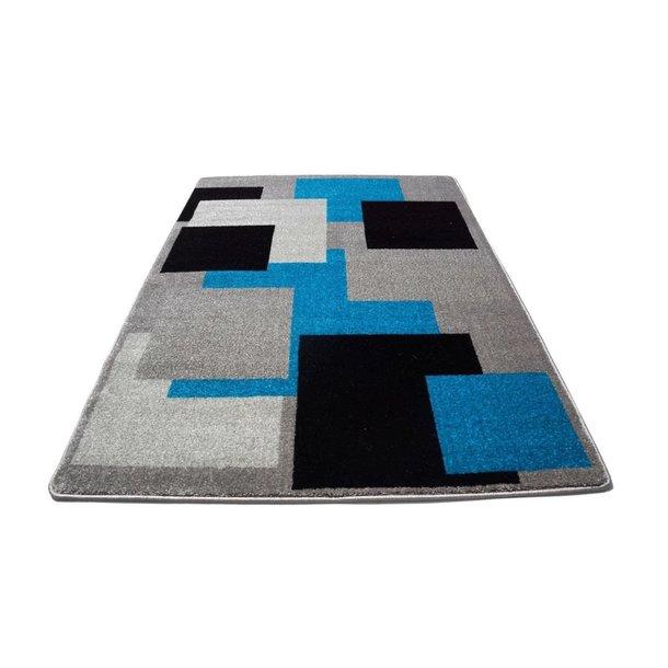 Moderní koberec NEO 6839 - Kostky - šedo-modré