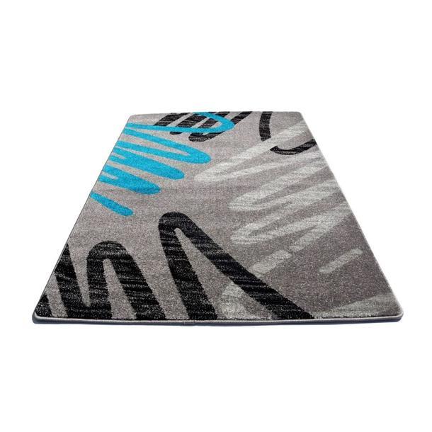 Moderní koberec NEO 6666 - šedo-modrý