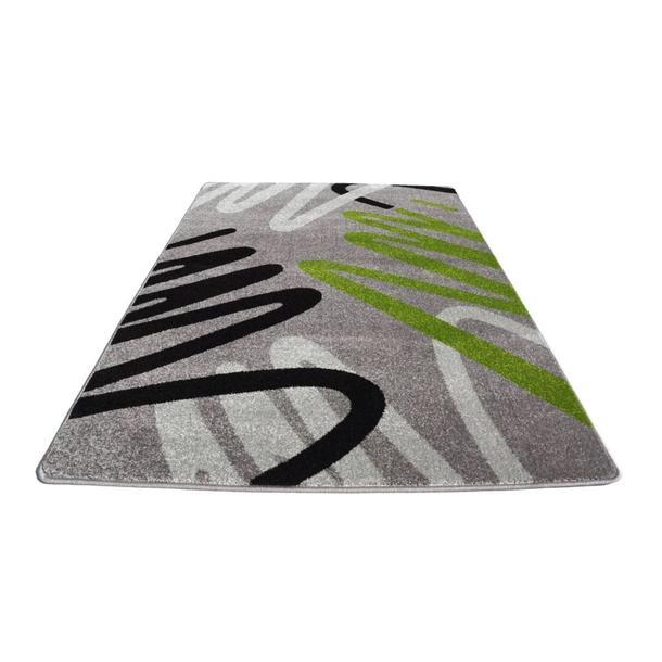 Moderní koberec NEO 6666 - šedo-zelený