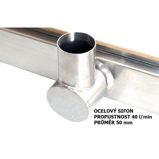 Odtokový sprchový žlab DOMO steel