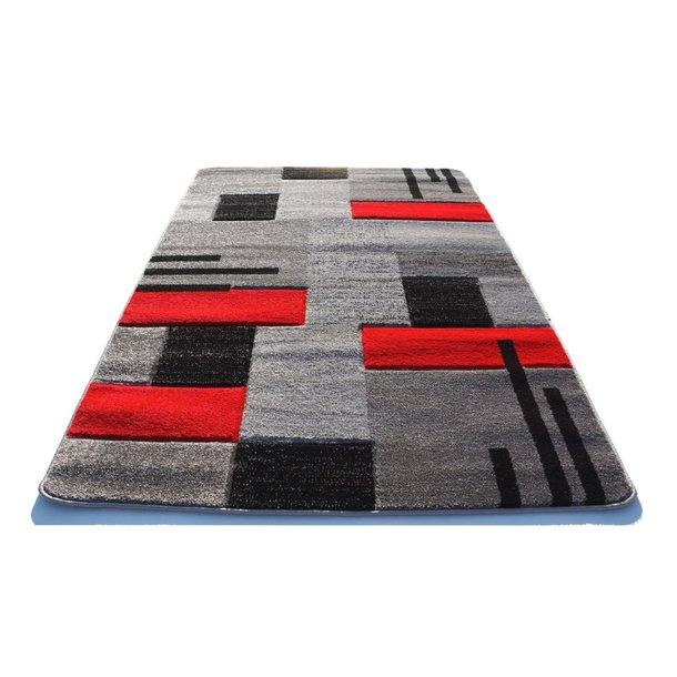 Moderní koberec OPIUM 2030 - šedo-červený