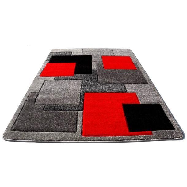 Moderní koberec OPIUM 8738 - šedo-červený