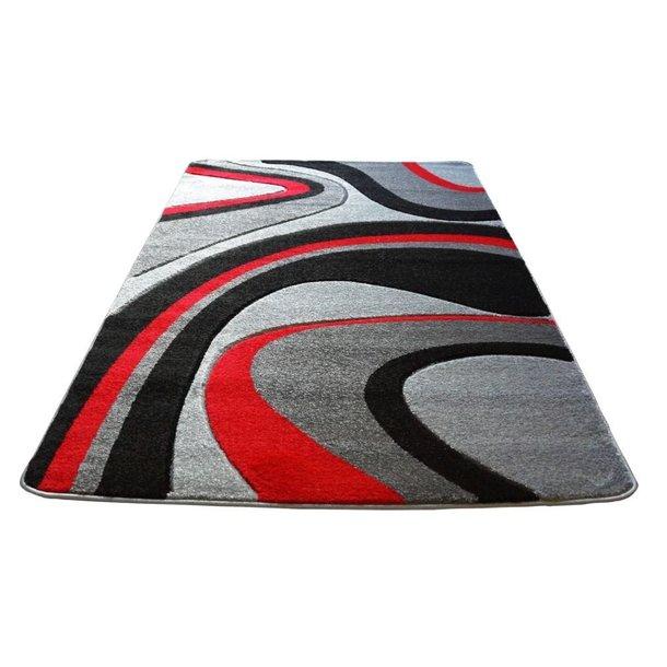 Moderní koberec OPIUM 8742 - šedo-červený
