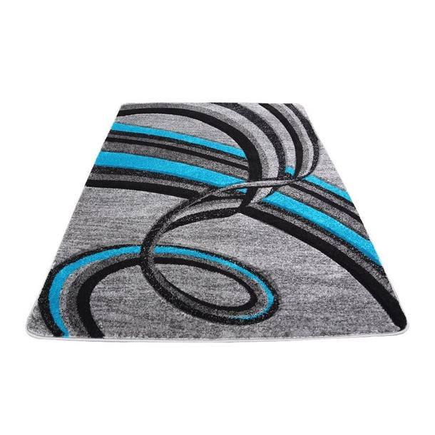 Moderní koberec OPIUM 1019 - tyrkysový