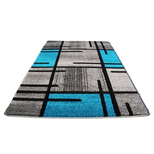 Moderní koberec OPIUM 1020 - tyrkysový