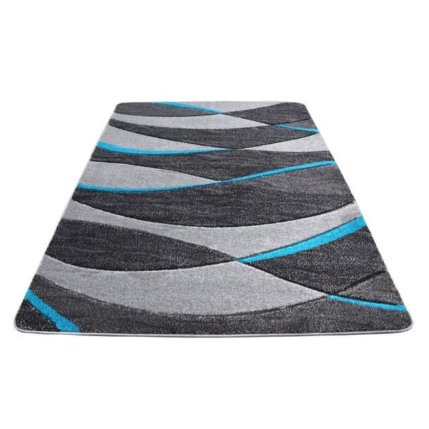 Moderní koberec OPIUM 1819 - tyrkysový