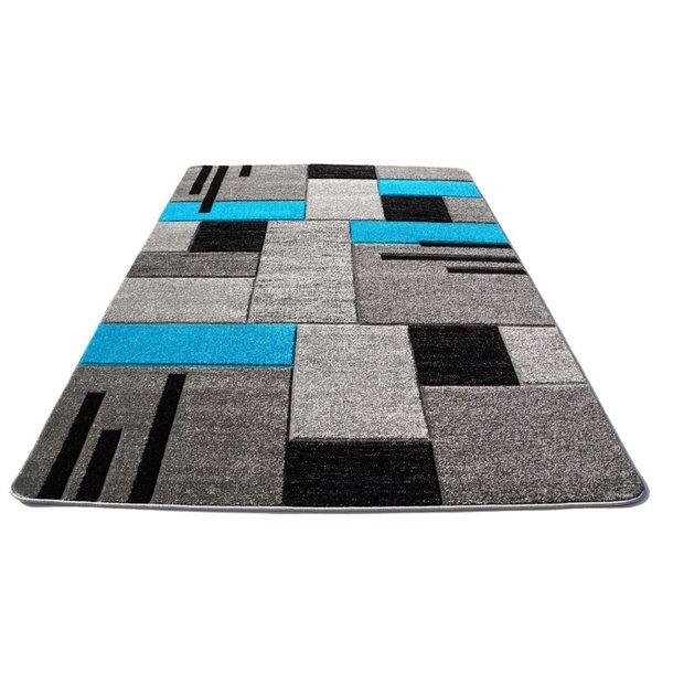 Moderní koberec OPIUM 2030 - tyrkysový