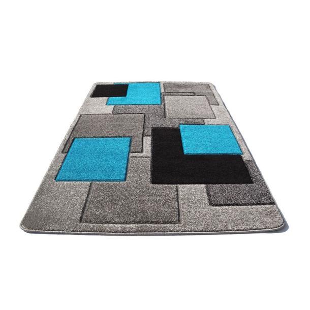 Moderní koberec OPIUM 8738 - tyrkysový