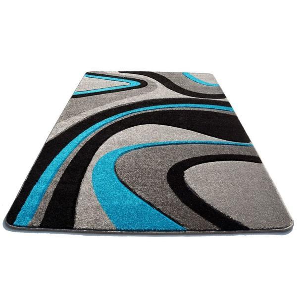 Moderní koberec OPIUM 8742 - tyrkysový