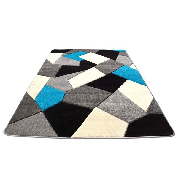 Moderní koberec OPIUM Kaleidoskop - tyrkysový