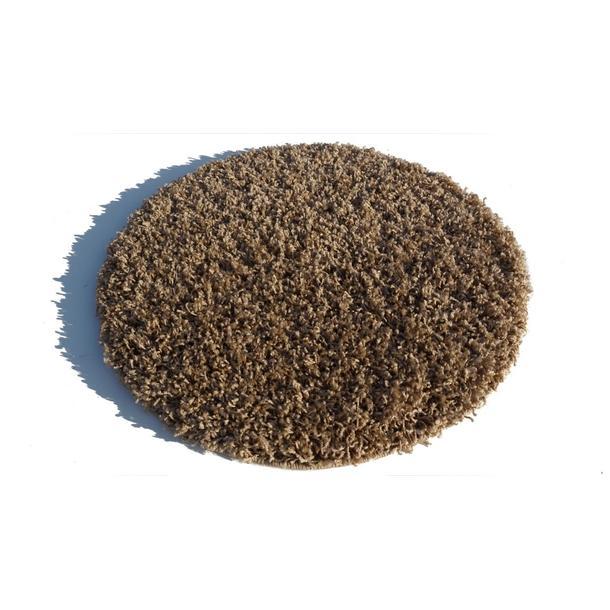 Kulatý koberec SHAGGY SPARTA kávový