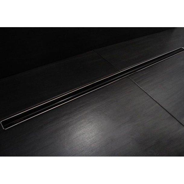 Odtokový sprchový žlab PERFECT SLIM - stick black