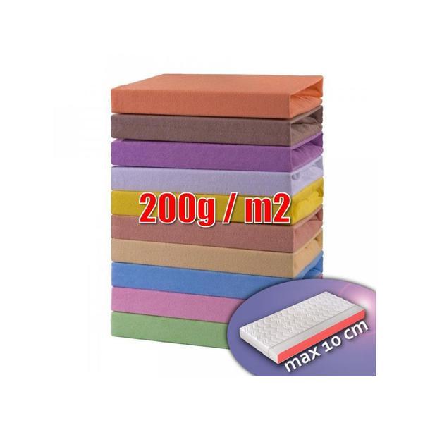 Froté prostěradlo do postele 180x90 cm (různé barvy)