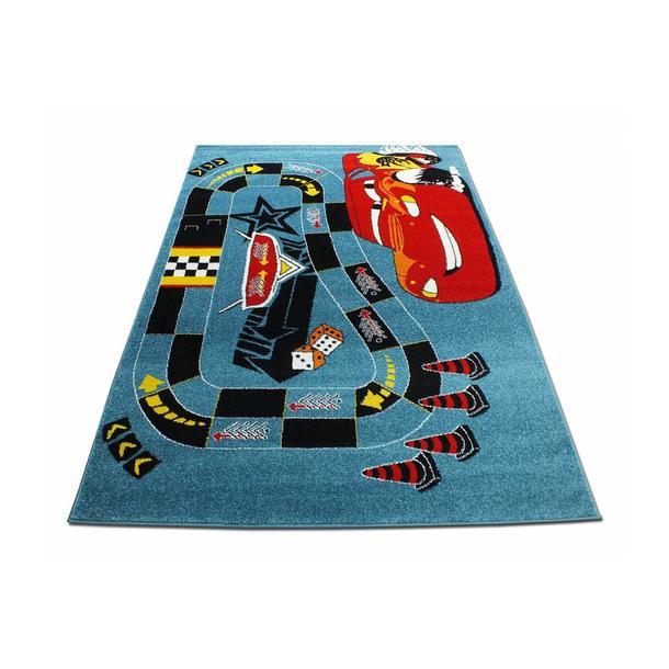 Dětský koberec Blesk - modrý