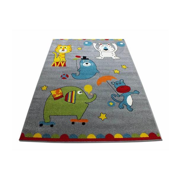 Dětský koberec Veselý cirkus - šedý