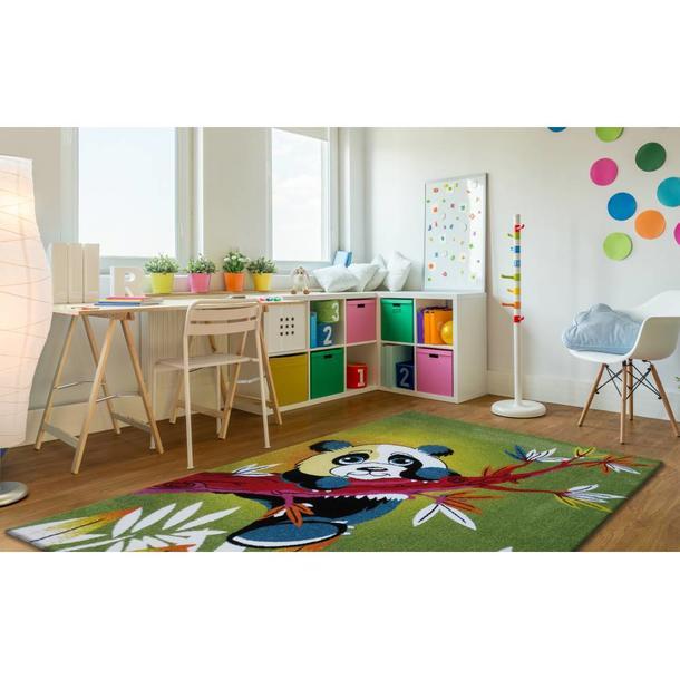 Dětský koberec Panda - zelený