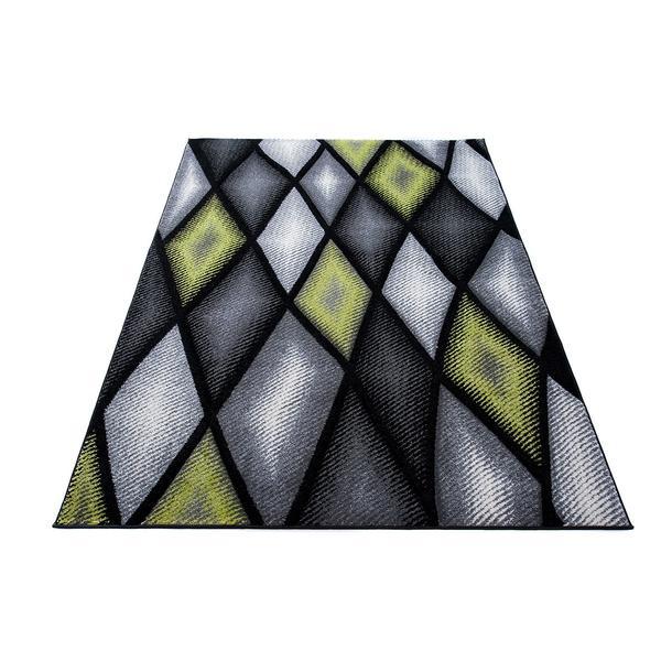 Moderní kusový koberec MATRA šedo-zelený J373C