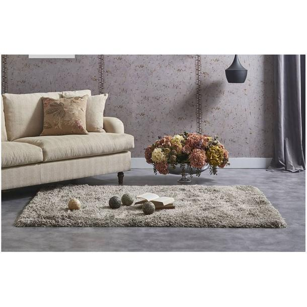 Moderní kusový koberec SHAGGY COLOR - béžovo-šedý