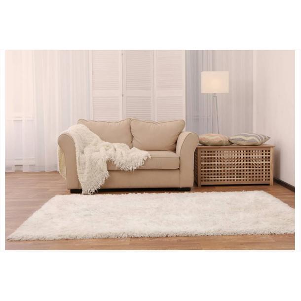 Moderní kusový koberec SHAGGY COLOR - bílý