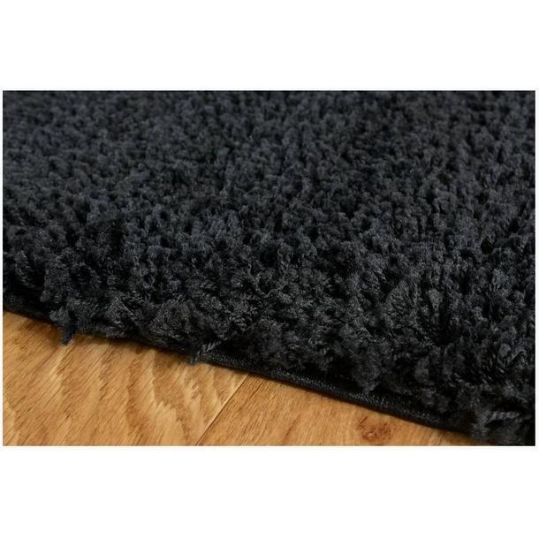 Moderní kusový koberec SHAGGY COLOR - černý