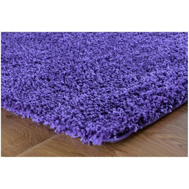 Moderní kusový koberec SHAGGY COLOR - fialový