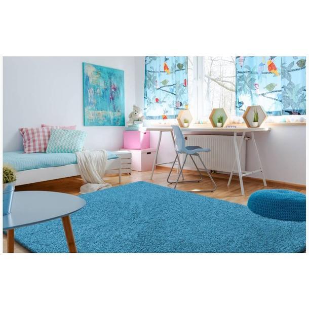 Moderní kusový koberec SHAGGY COLOR - tyrkysový