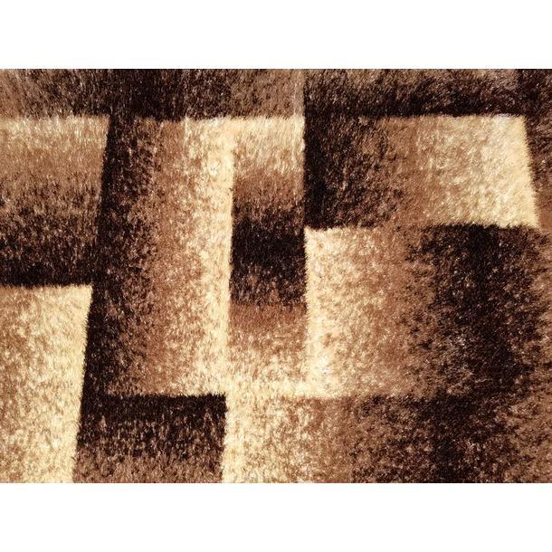 Kusový koberec SHAGGY TOP - tetris - cappuccino