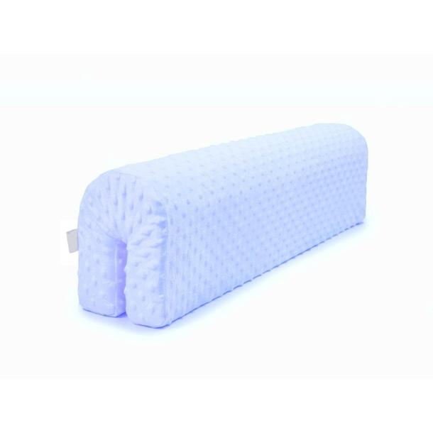 Chránič na dětskou postel MINKY - světle modrý