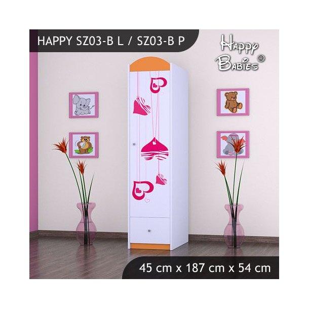 Dětská skříň - TYP 3B - oranžová