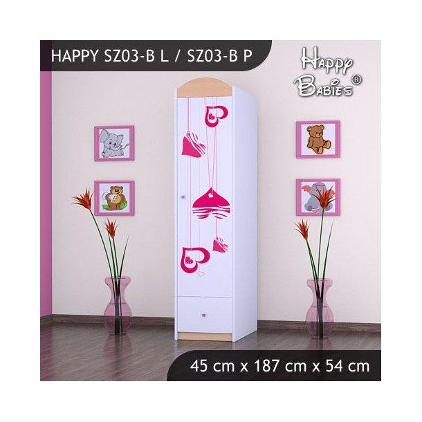 Dětská skříň - TYP 3B - světlá hruška