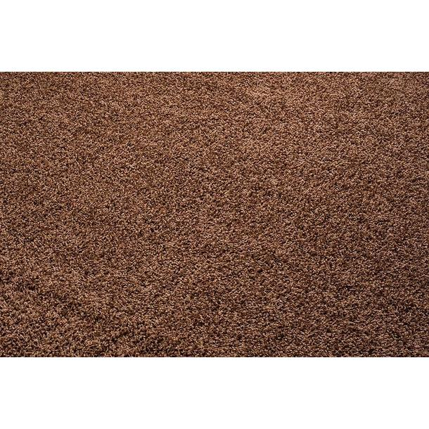 Kusový koberec SHAGGY TOP - světle hnědý