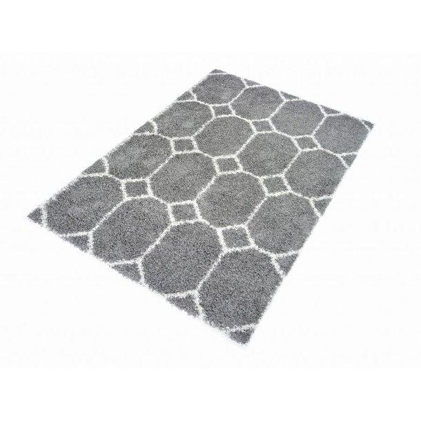 Kusový koberec SHAGGY TOP - 458 - šedý