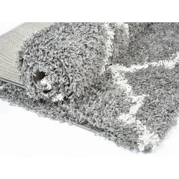 Kusový koberec SHAGGY TOP - 457 - šedý