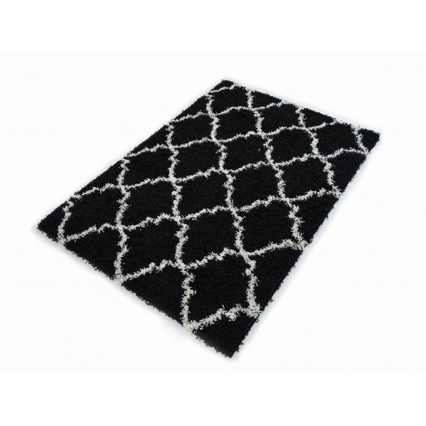 Kusový koberec SHAGGY TOP - 462 - černý