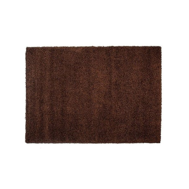Kusový koberec SHAGGY TOP - tmavě hnědý