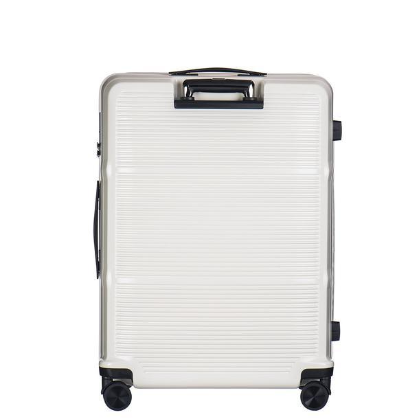 Moderní cestovní kufry VIENNA - bílé