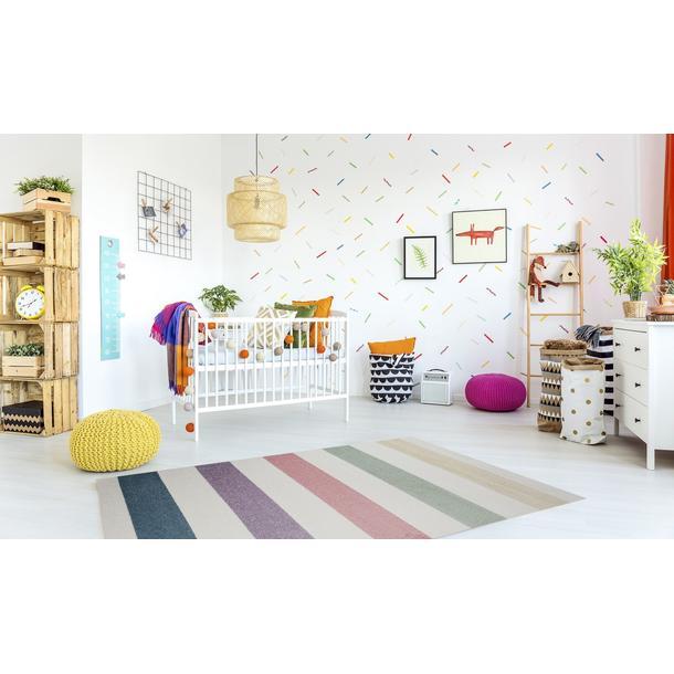 Dětský koberec Happy - BAREVNÉ PRUHY I
