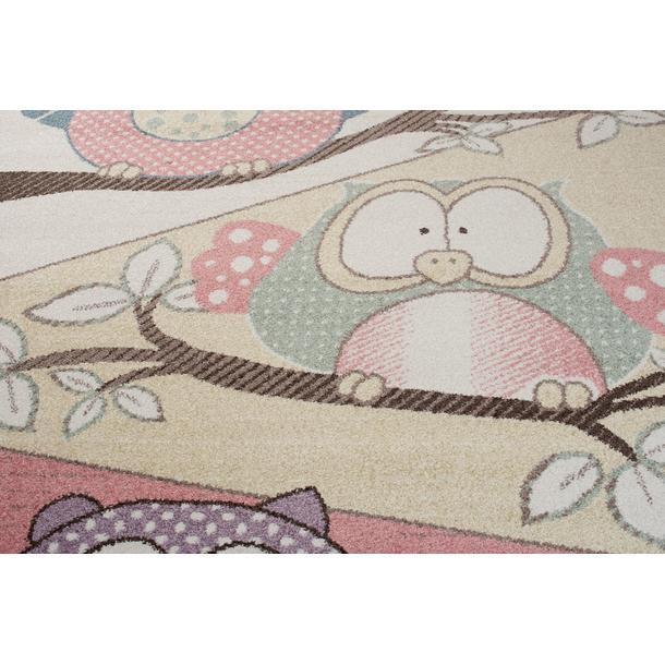 Dětský koberec Happy - SOVY NA STROMĚ 1