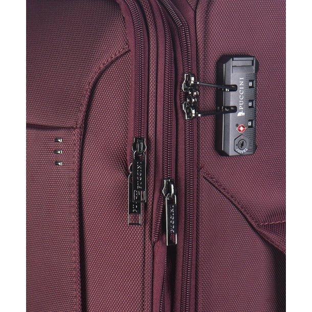 Moderní cestovní kufry OSLO - červené