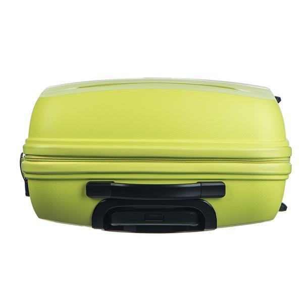 Moderní cestovní kufry ACAPULCO - limetkové