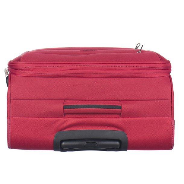 Moderní cestovní kufry CAMERINO - červené