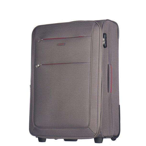 Moderní cestovní kufry CAMERINO - šedé