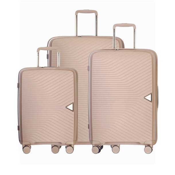 Moderní cestovní kufry DENVER - béžové