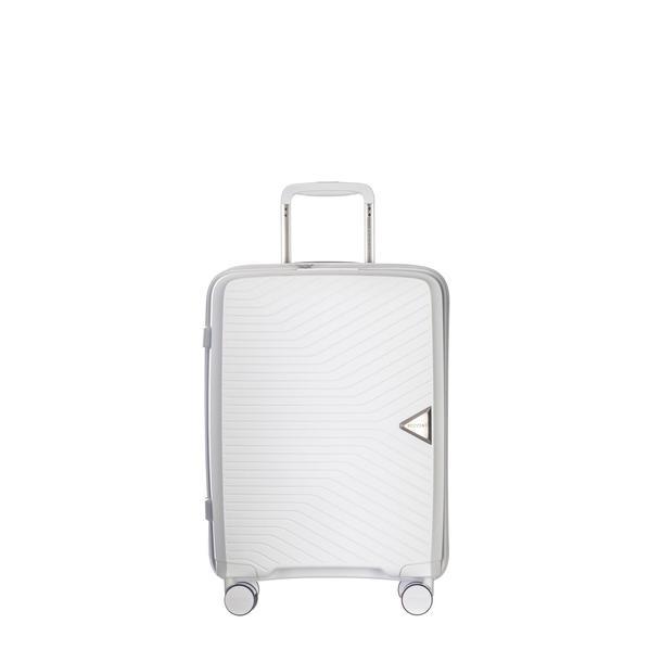 Moderní cestovní kufry DENVER - bílé