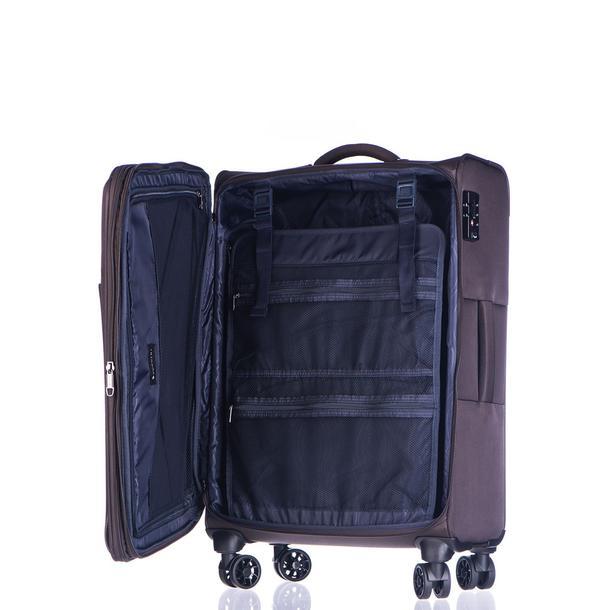 Moderní cestovní kufry BERLIN - hnědé