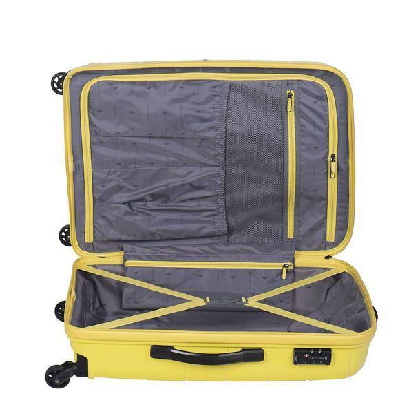 Moderní cestovní kufry MADAGASKAR - žluté