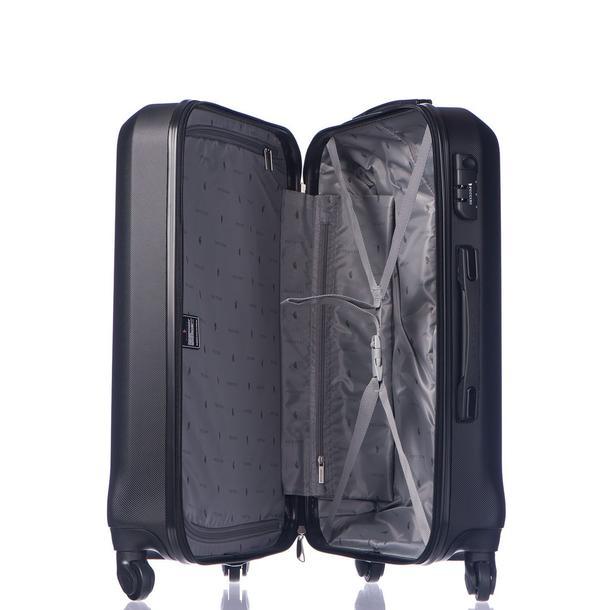 Moderní cestovní kufry PARIS - černé
