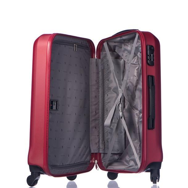 Moderní cestovní kufry PARIS - tmavě červené